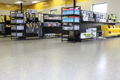 Epoxy-coated floor by Dancer Concrete Design