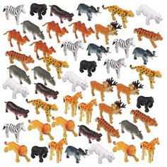 Zoo Animals Pack | 48ct for $14.40 in Wild Kingdom - Party Themes