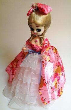 Vintage Big Eye Bradley Doll  Pink Dress / by SouthernCatVintage