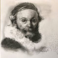 Copyes tried to paint more than put lines. Charcoal 9x9  #rembrandt #drawings #digitalart #painting  #illust #crepuscopoli #fineart #sculpting  #artacademy #oilpainting