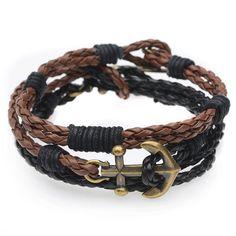 Braided Cord Bracelet Trio (Black/Brown) - Exclusive Beadaholique Jewelry Kit - Bracelet Making Kits - Jewelry Kits - Jewelry Making Kits   Beadaholique