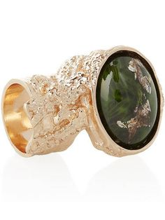 Yes, it's a splurge, but we'll be surprised if you wear this ring without getting 1,000 compliments. Yves Saint Laurent Arty Rose Gold-Plated Glass Ring, $290, net-a-porter.com