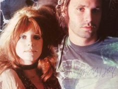 onlybluesunday:  Pamela Courson and James Douglas Morrison. Ha! The Scott and Zelda for the 60s--though the Lizard King did not quite attain the literary status he sought through his poetry, his music and singing did get him into the pantheon.