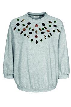 Grijze trui met #juwelen uit de Zalando Collection #SS13