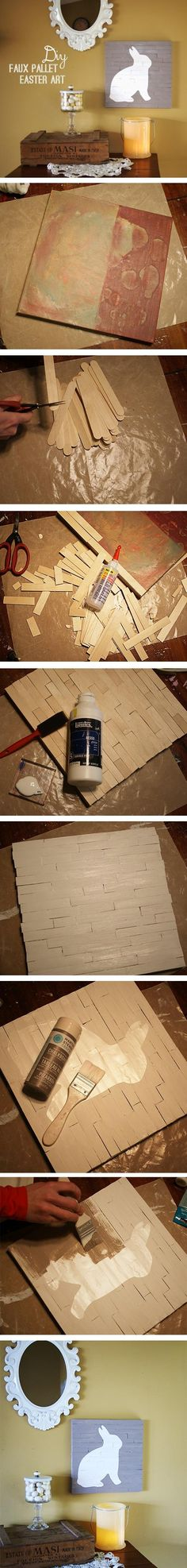 Make Faux Wood Pallet Art