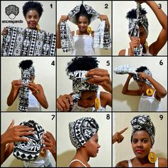 Attaché foulard headwrap gélé