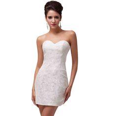 Short Empire Waist Wedding Dresses