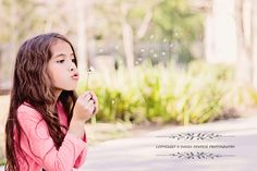 Spring flowers, child photography, dania deweese photography, little girl