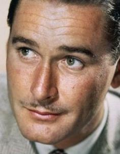 Errol Flynn, this beautiful man was one of the most handsome to ever come to Hollywood, but sadly he became a raging alcoholic; and drank himself to death....
