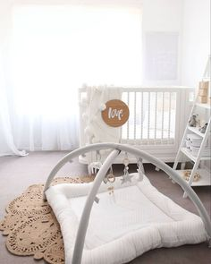 L.O.V.E everything about this #nurseryinspiration #georgiacot #georgiacrib #cot #crib #nursery #whitenursery #babyfurniture