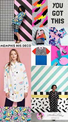 Memphis Design Trend Report SS19 | Memphis Art Style SS20 | Memphis Fashion | Memphis Pattern | Memphis Surface Design and Illustration   by Lauren Lesley Studio