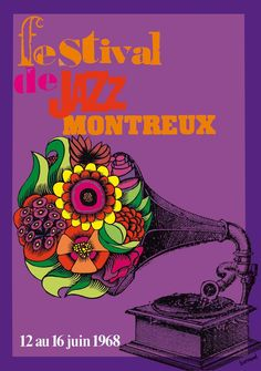 Roger Bornand - poster Montreux Jazz Festival 1968