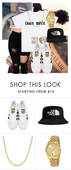 """""""Untitled #109"""" by sour-sweet-gone ❤ liked on Polyvore featuring adidas Originals, Fremada and Michael Kors"""