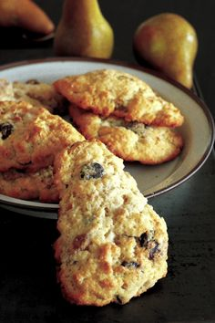 Pear, Granola, and Ginger Chocolate Chip Scones