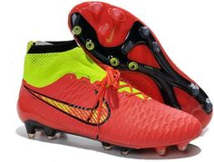 Nike Magista Obra ACC TPU FG Soccer Boots red neon black