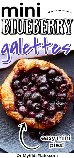 Fresh blueberries baked in puff pastry come together so easily and make these delicious baked treats just like a little pie. Perfect for dessert or breakfast, these treats are great for kids to make and bake. #blueberry #galette #recipe #dessert #blueberrydessert #blueberrybreakfast Easy Desserts For Kids, Fruit Recipes For Kids, Great Desserts, Healthy Dessert Recipes, Delicious Desserts, Yummy Food, Dinner Recipes, Fun Food, Dessert Ideas