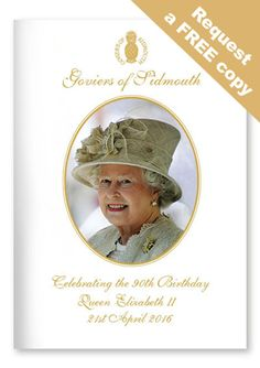 Goviers FREE Queens 90th Birthday Celebration Brochure