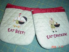 pot holders, can be personalized,    made with love by my mom, contact me with orders.