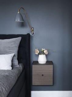 blue bedroom... GUBI // Bestlite BL6 Wall Lamp by Robert D. Best