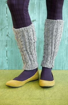 Foyle's Cabled Leg Warmers - I would need them about 10 inches longer so I could slouch them though