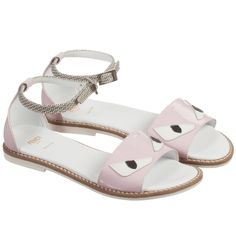 Pink monster sandals by Fendi