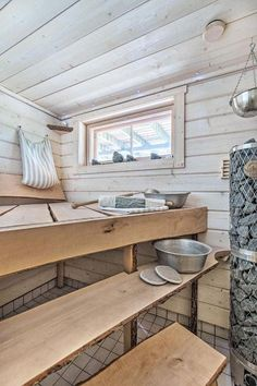 If you want the health and wellness benefits of steam without going to the spa, then you can either buy a home unit pre fabricated or create your own sauna Building A Sauna, Men's Bedroom Design, Indoor Sauna, Lavatory Design, Sauna Design, Spa Rooms, Saunas, Bathroom Countertops, Home Design Plans