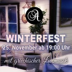 Wir freuen uns schon aufs Winterfest mit NOTES LIVE ♪♫ Winter Festival, Oktoberfest