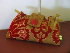 Red Brocade Ribbon Clutch for Bridesmaids or Prom by by fancibags, $30.00
