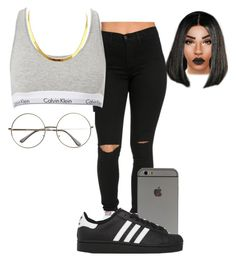 """""""."""" by xtiairax ❤ liked on Polyvore featuring Calvin Klein and adidas Originals"""