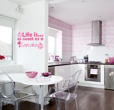Life is as sweet as a cupcake Wall art sticker by TopWallStickers