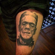 Frankenstein por Caique Ataide CICATRIZADO @caiqueataide - Galeria do Rock 1o. Andar Loja 228 #studiotat2 #galeriadorock #centrosp #frankenstein #frankensteintattoo #tattoo2me #realismo #realismotattoo