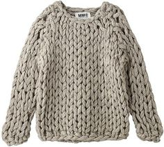 Hand knit chunky sweater / ShopStyle: Deuxieme Classe ハンドメイドローゲージニット