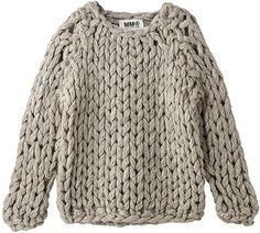 Hand knit chunky sweater / ShopStyle: Deuxieme Classe ハンドメイドローゲージニット