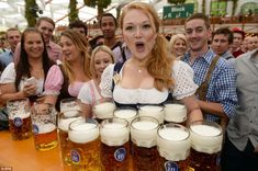 How many one liter Mass Krugs can you carry?  From Oktoberfest 2013.