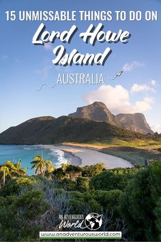 From hiking up Mount Gower to feeding the fish at Ned's Beach, these are all the unmissable things to do on Lord Howe Island in Australia! Brisbane, Melbourne, Sydney, Australia Beach, Visit Australia, Australia Travel, Western Australia, Queensland Australia, South Australia