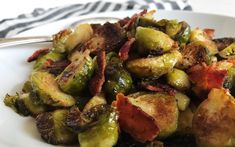 Brussels Sprouts Recipe - Caramelized Brussels Sprouts with Bacon