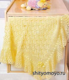 Вязание для детей: схемы вязания спицами - желтый плед