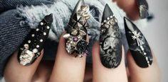 30 Halloween Nägel Ideen für einen abgerundeten Grusel-Look Baby Party, Beauty, Moment, Feet Nails, Manicure Ideas, Creative Ideas, Halloween Nail Designs, Halloween Ideas, Black Nails