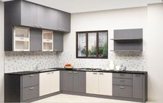 Buy l shaped kitchen designs online In Bangalore at scale inch. We provides Best  L Shaped Kitchen Designs For Indian Homes.  For more information visit at: https://www.scaleinch.com/l-shaped-kitchen