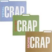 Sometimes you just have to call it what it is: Total Crap, Other Crap and More Crap file folders helps you get through the chore of organization with a little humour.  www.officecandy.com
