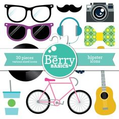 Hipster Icons- Freebie 30 Pack