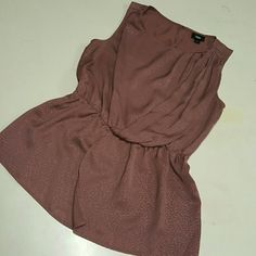 mauve small mossimo peplum top tank size small, worn a few times, still looks excellent Tops Blouses