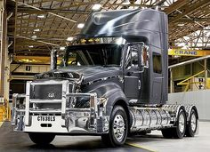 """Versatile ... the luxurious heavy-duty Caterpillar CT630LS, to suit Australian roads"", pinned by Ton van der Veer"