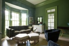 Frankie Sofa, Rose Ottomans, Lady Swivel Chair, Dove Sideboard by Hable for Hickory Chair.  www.hickorychair.com