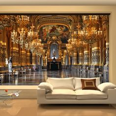 Large 3D wallpaper mural European minimalist living room sofa bedroom wallpaper backdrop Palace