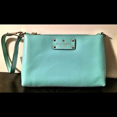 Kate Spade Wristlet Light turquoise wristlet. Never used. Excellent condition. kate spade Bags Clutches & Wristlets