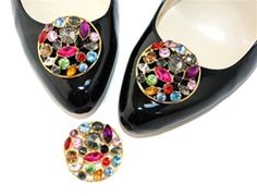 Great way to change the look of any shoe. Aurelia multi color rhinestone shoe clip by Absolutely Audrey.