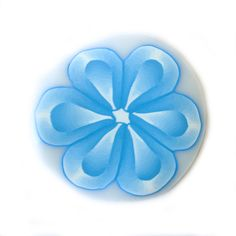 Blue Millefiori Flower by RolyzCreations, $6.25