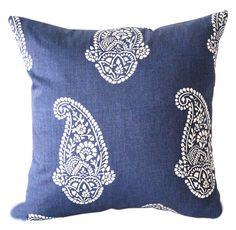 Blue Pillow Cover, Pasley