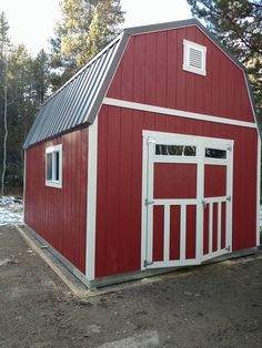 adorable tuff shed pictures. Love this red storage barn  Traditional style with modern additions like transom windows Premier Tall Barn 12x14 by TUFF SHED Country Living Pinterest